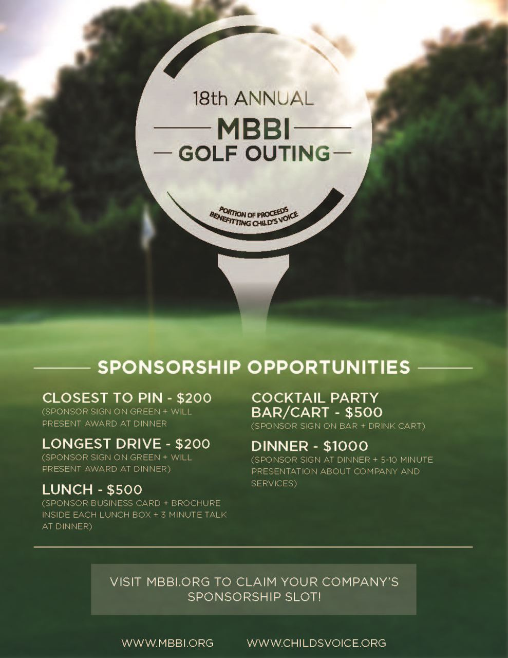 MBBI - 18th Annual MBBI Golf Outing